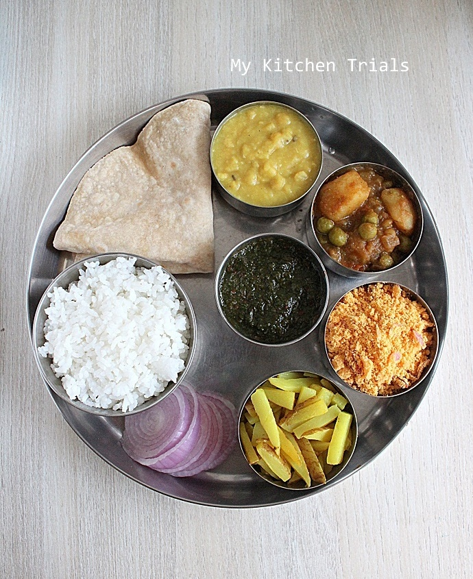 Simple Bihari Lunch