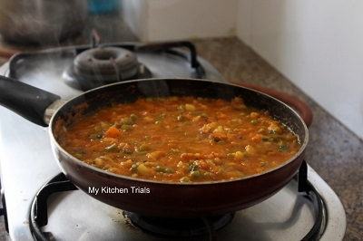 Mixed Vegetable Curry – Low Fat version