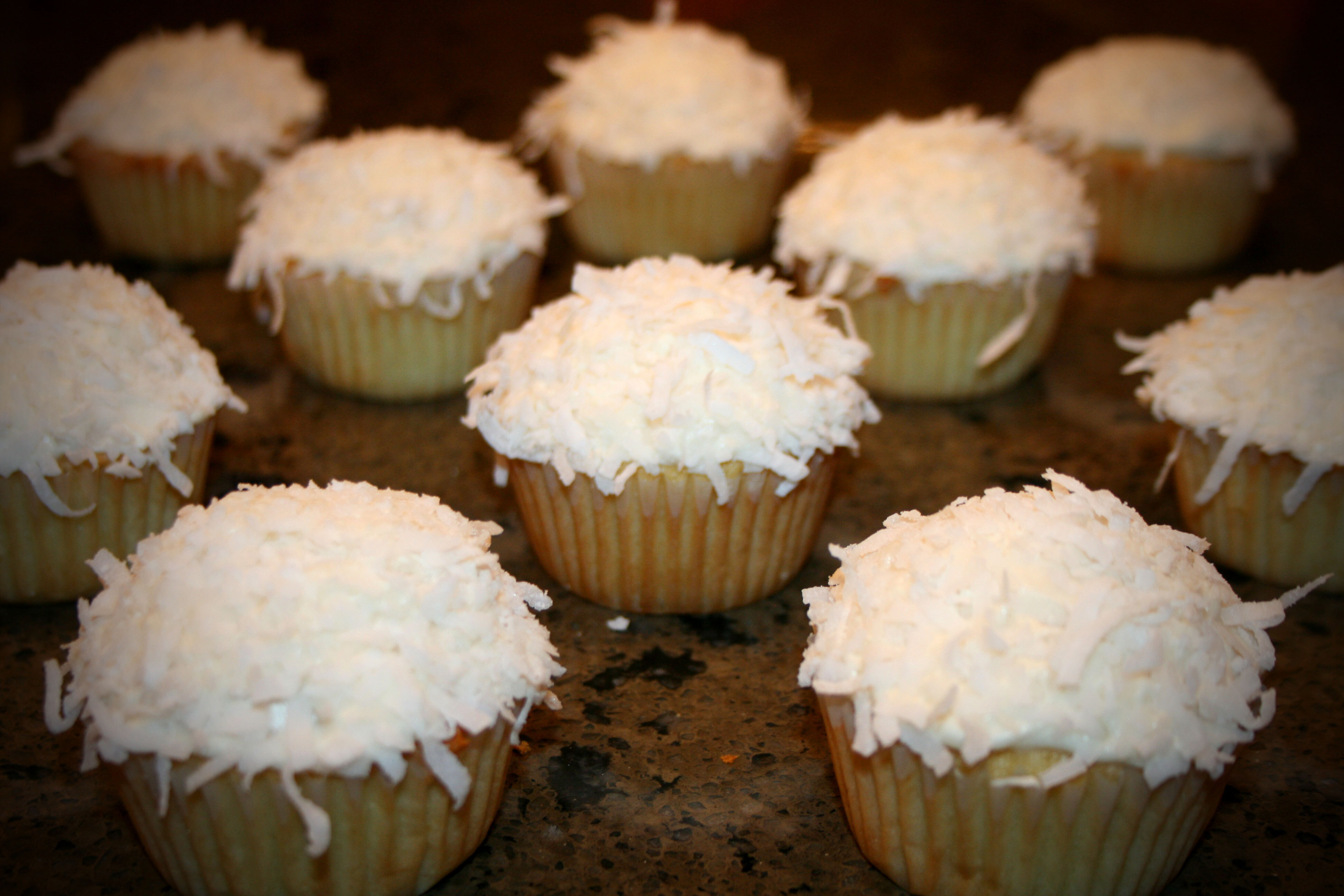 Snowy Coconut Cupcakes
