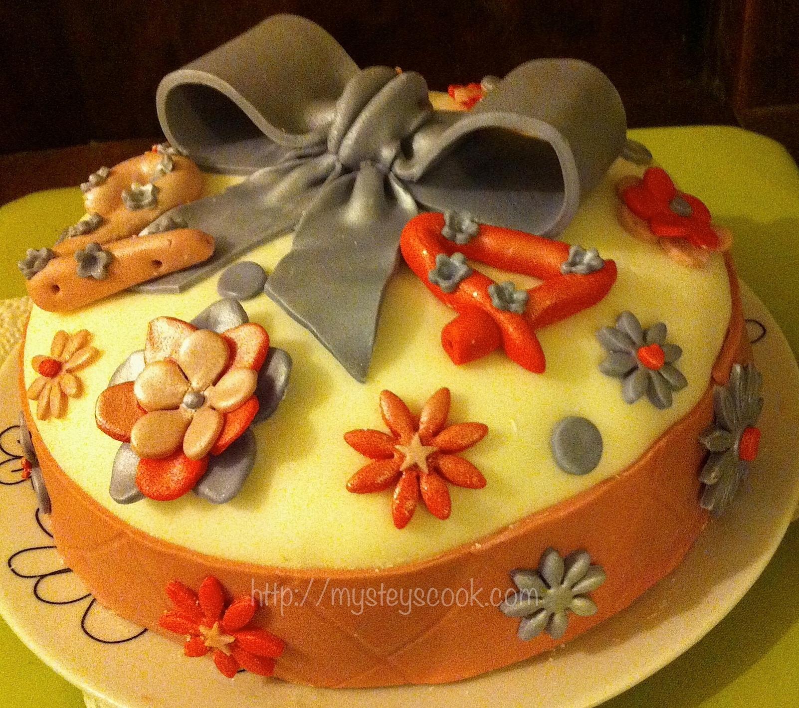 """Concours """"Gâteaux d'Anniversaire"""" de Tizi Cooks – CakeDesign Mangue-Papaye #2"""