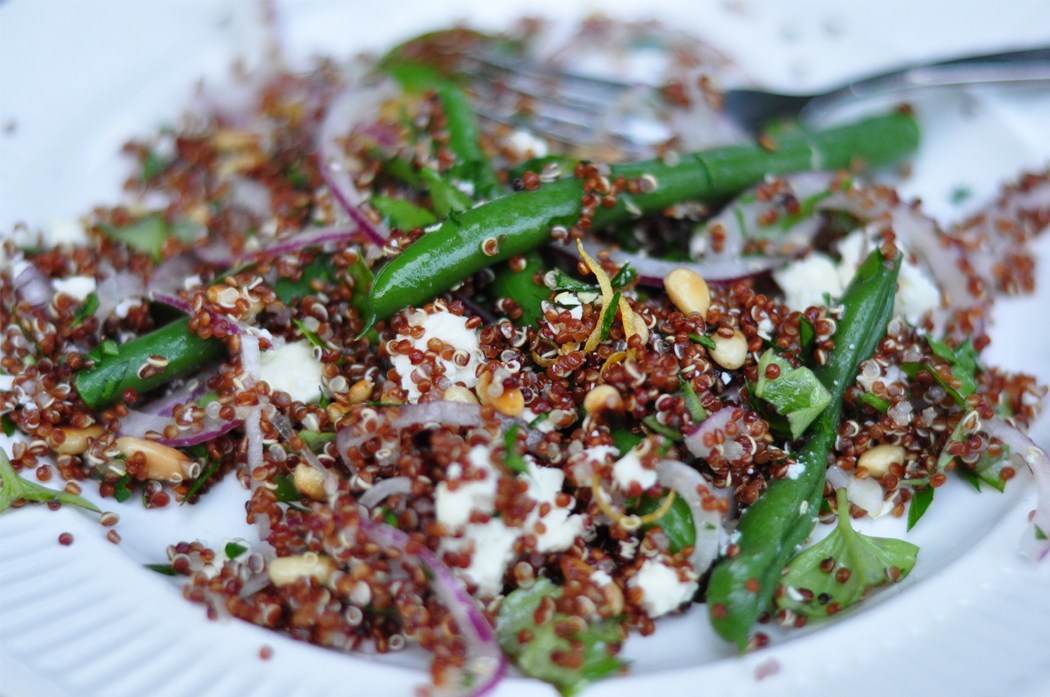 Comment on Herby quinoa salad with green beans and feta by Barb