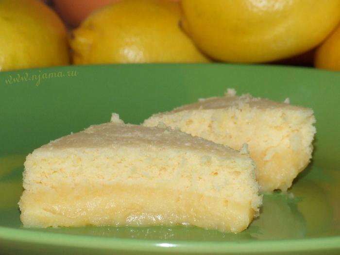 Двойной лимонный пудинг от Джейми