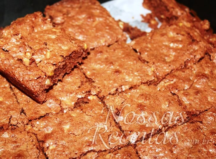 Brownie de chocolate com castanha