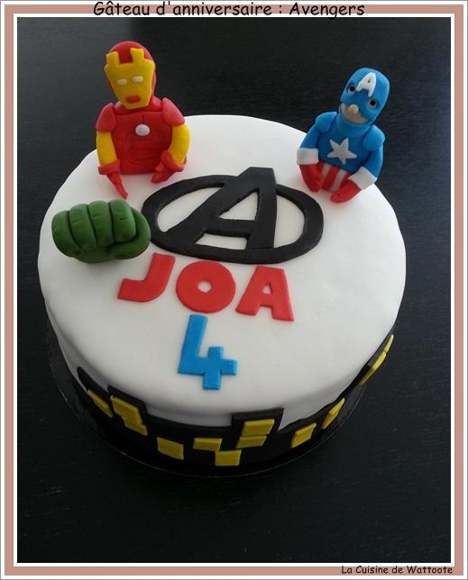 Gâteau d'anniversaire  : Les Avengers