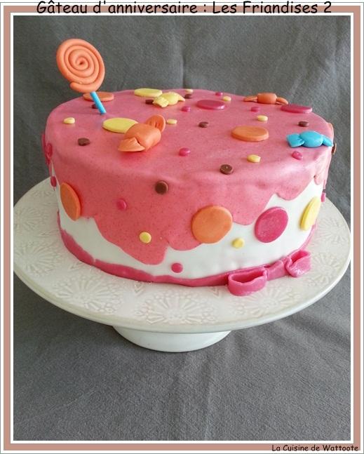 Gâteau d'anniversaire  : Les friandises no 2