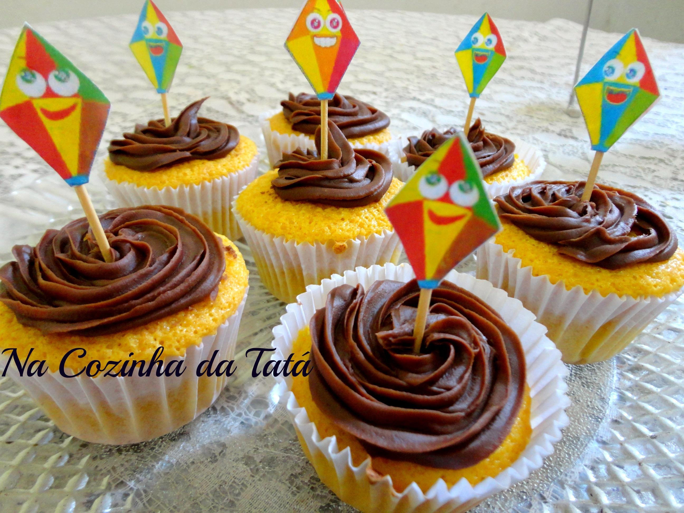 Cupcake de Cenoura com Ganache