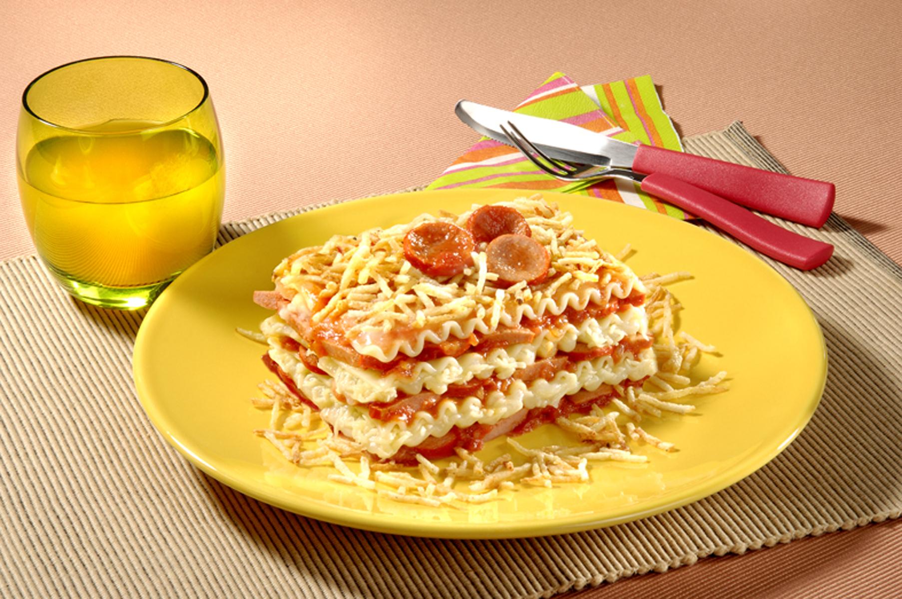 Lasanha Hot Dog