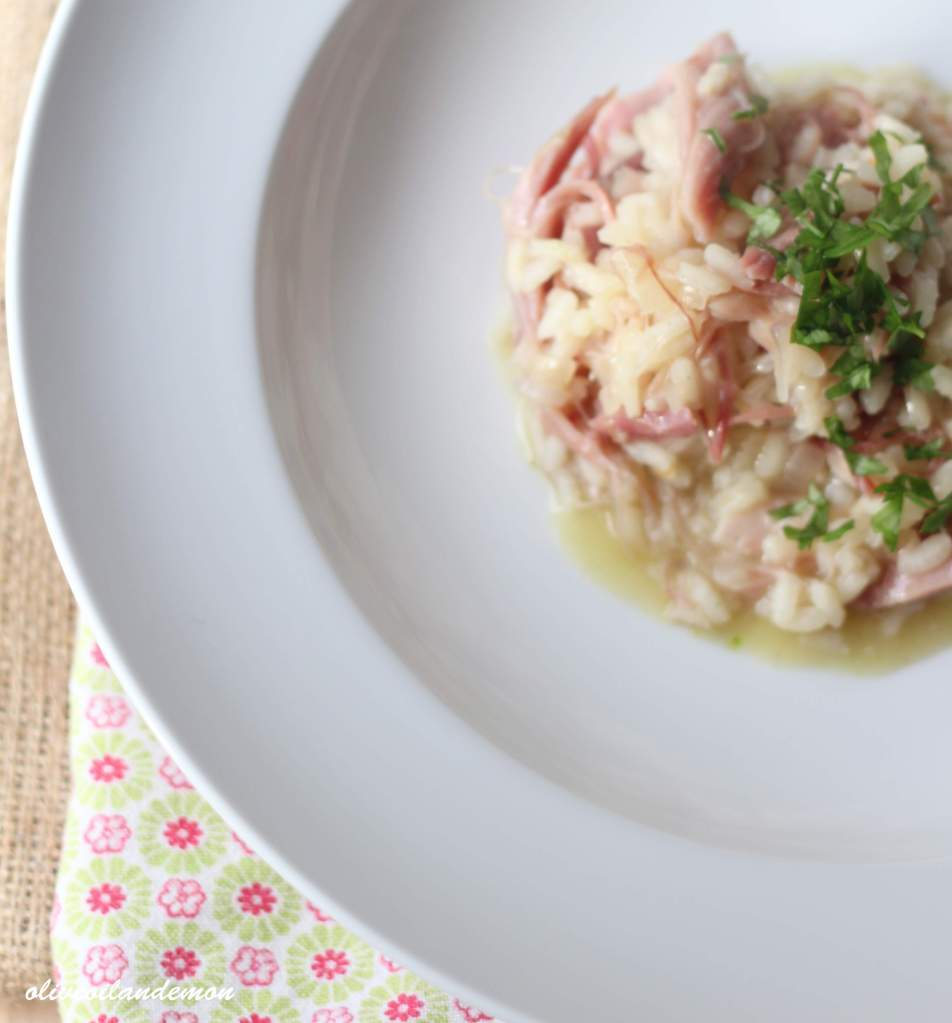 Ham Hock Risotto with Fresh Herbs