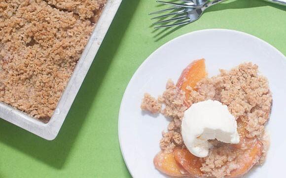 Peach Crisp {gluten-free}