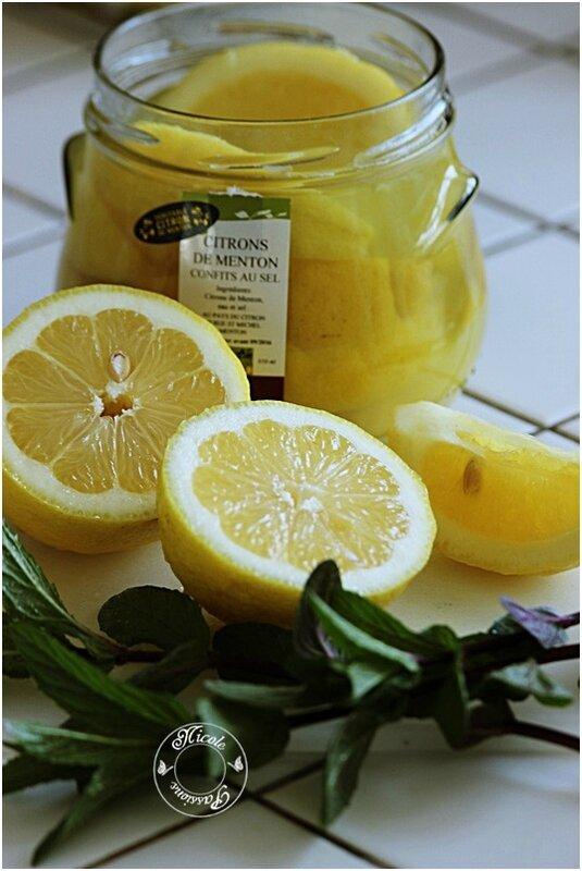 Dos de cabillaud, poêlée de concombres et citron confits et sa crème menthe citron......
