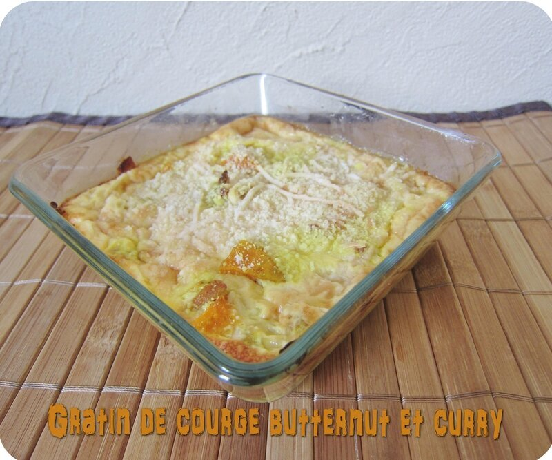 Gratin de courge butternut au curry