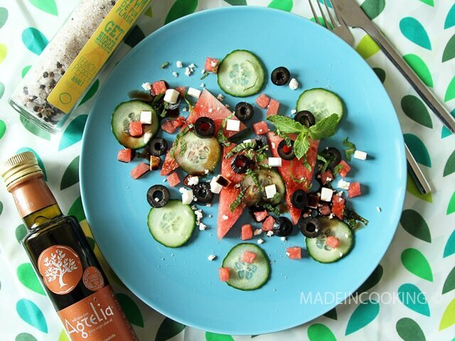 Salade de pastèque à la feta et à la menthe