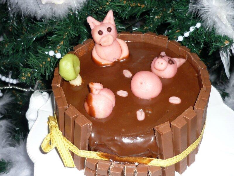 """Gâteau """"Mare aux cochons"""""""
