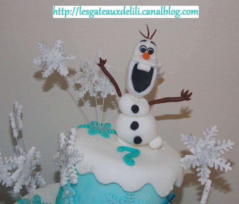 La Reine des Neiges - seconde version (avec recettes et explications) + le gâteau réalisé par Mélanie