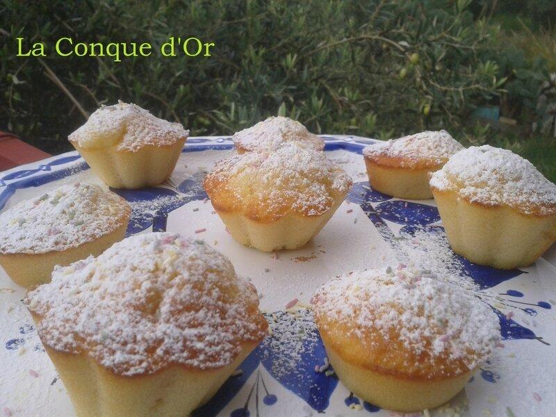 Muffins crème de pistache et chocolat