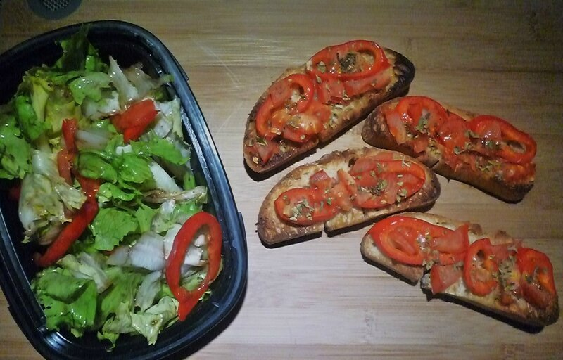 Bruchetta piment tomate
