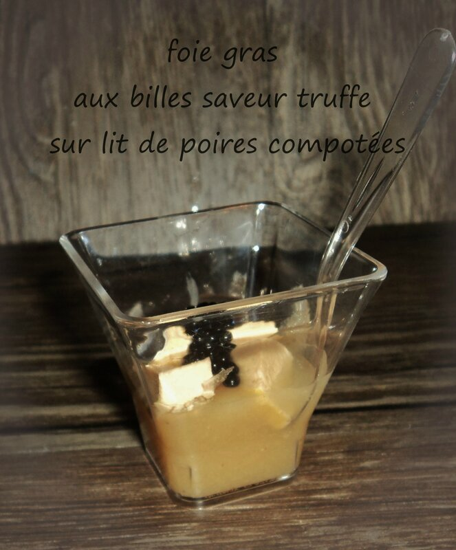 verrine foie gras et poires