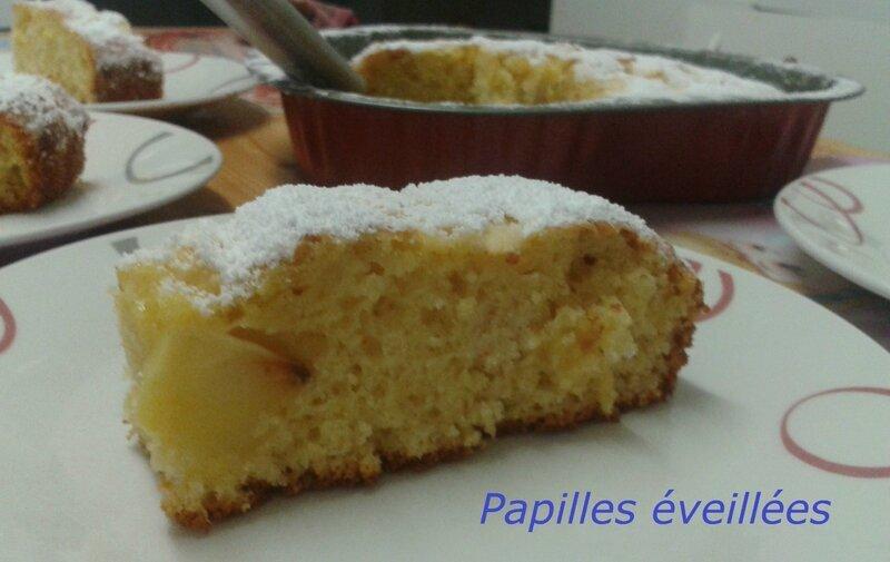 Gâteau au yaourt fondant aux pommes