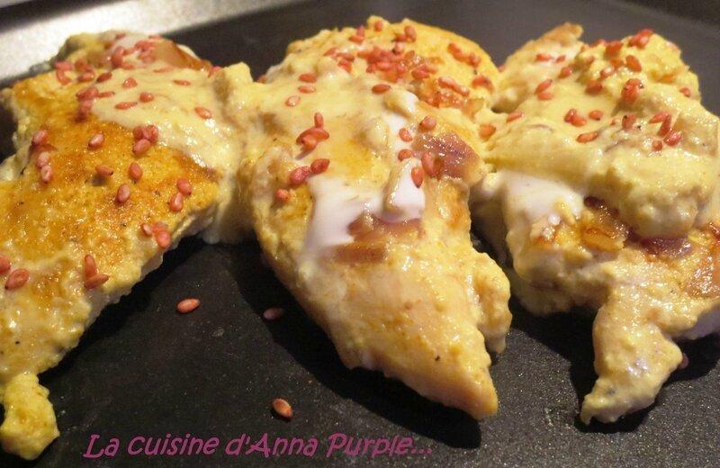 Aiguillettes de poulet au lait de coco et curry