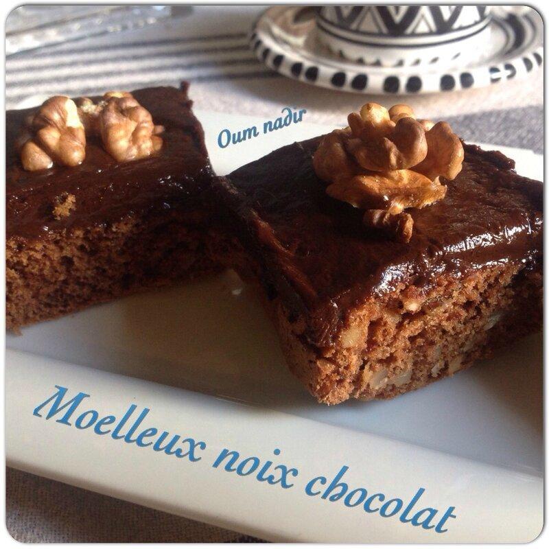 Moelleux noix chocolat
