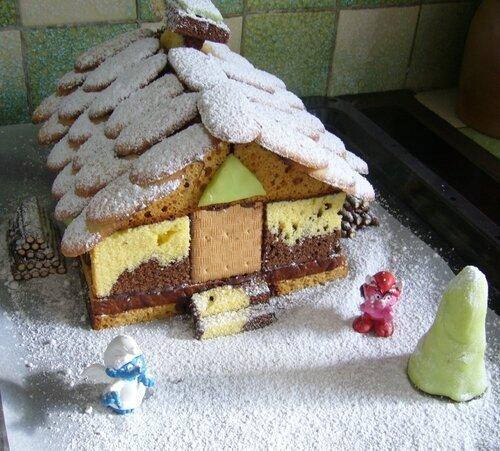 Chalet de Noël en pain d'épices