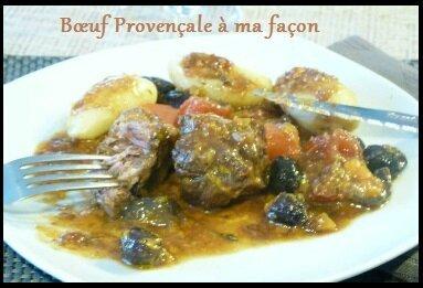 """ღ """" Miam """" Bœuf Provençale à ma façon .."""