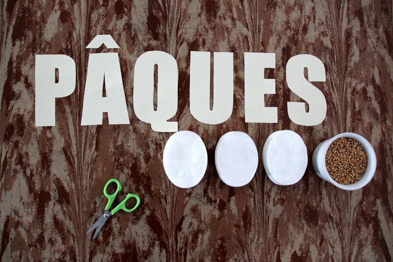 DIY Pâques : le centre de table en lettres végétales