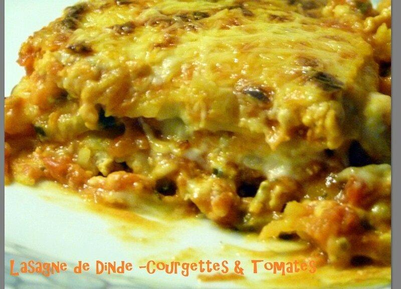 """ღ """" Miam """" Lasagne de Dinde - Courgettes & Tomates .."""