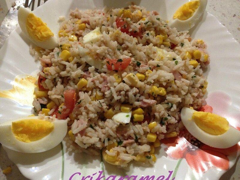 Salade de riz multicolore