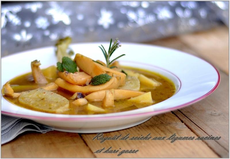 ragoût de morgates aux légumes racine et kari gosse