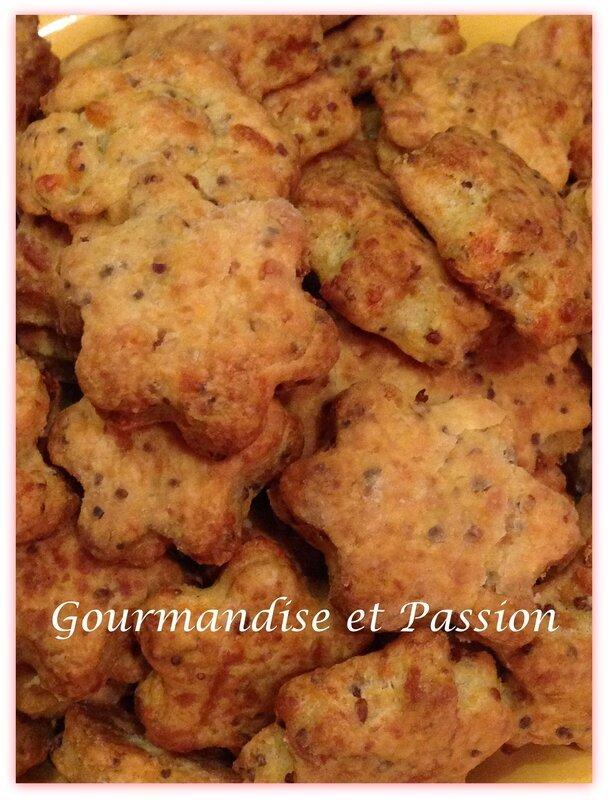 Biscuits salés au comté et à la moutarde