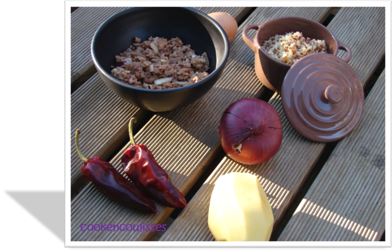 Choux de printemps farci au boeuf, porc, et quinoa
