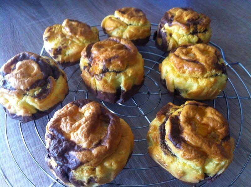 Muffins orange et chocolat light