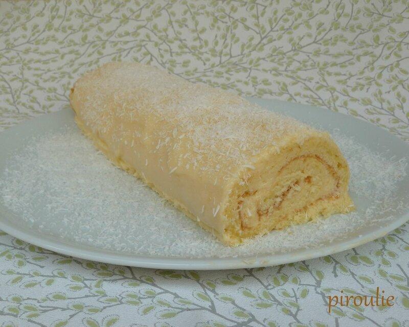 Gâteau roulé de pessah à la mousse au citron