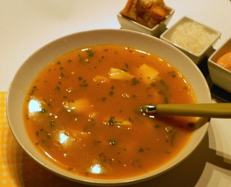 Soupe de poisson apprêtée à ma façon, sans gluten et sans lactose