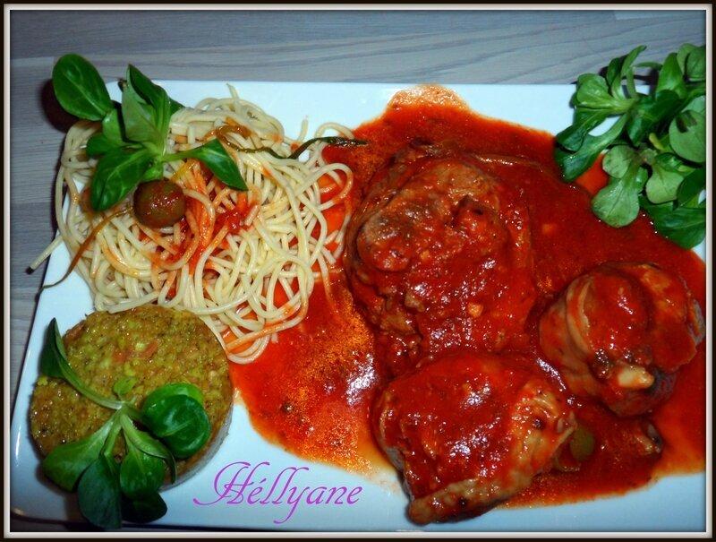 OSSO BUCCO de dinde en sauce tomate