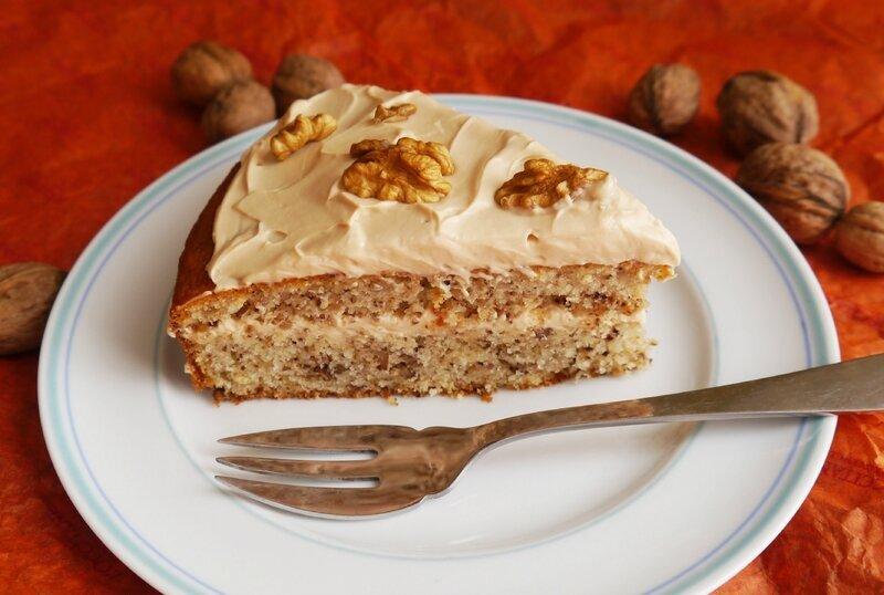 Gâteau noix-caramel