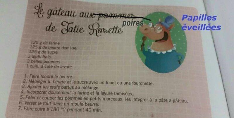 Gâteau aux poires de Tatie Rosette