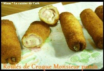"ღ "" Miam "" Roulés Croque Monsieur Panés"