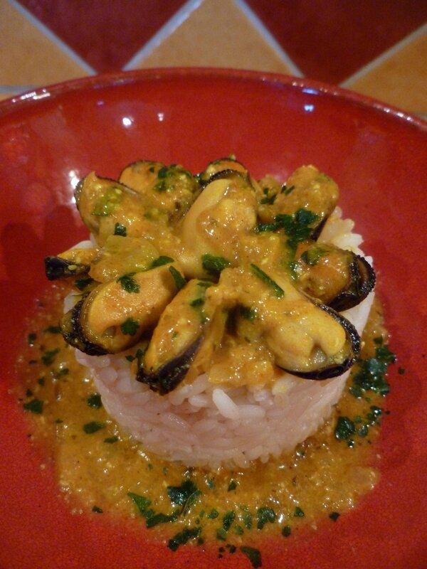 Moules ou crevettes Tikka Masala