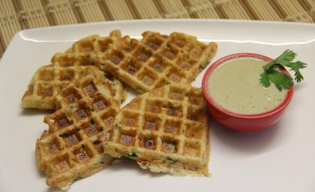 Waffle mixed dal dosa (adai)