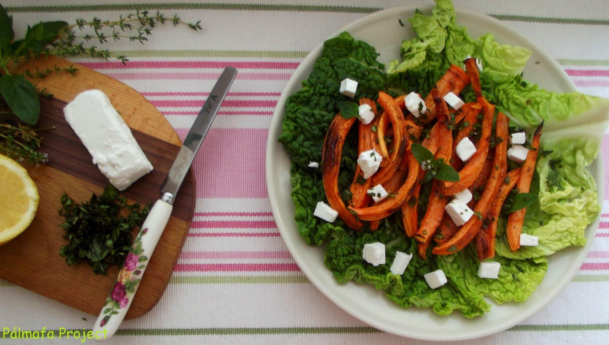 Mediterrán sült sárgarépa fetával