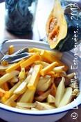 Frites de courge buttercup, pommes de terre et sauge