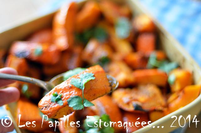 Potimarron rôti à l'ail, aux 4 épices et au sirop d'érable
