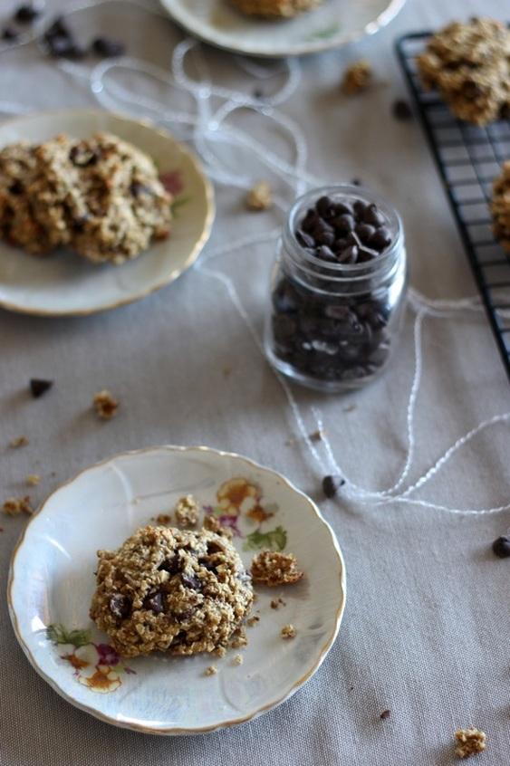 Biscuits au son de blé, yogourt et chocolat
