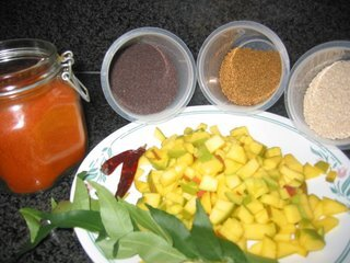 Raw Mango Pickle (Mamidikaya Pacchadi)