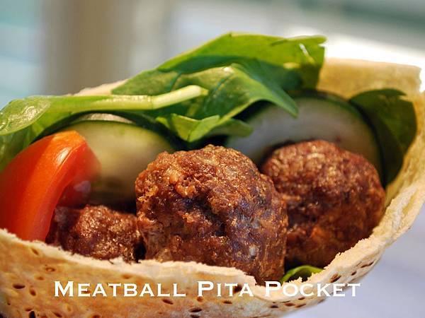 遠見網路獨享。希臘風午餐輕食:肉丸口袋麵包 Meatball Pita Pockets