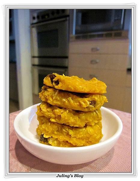 健康地瓜燕麥餅乾(無油、無糖、無蛋、無麵粉)