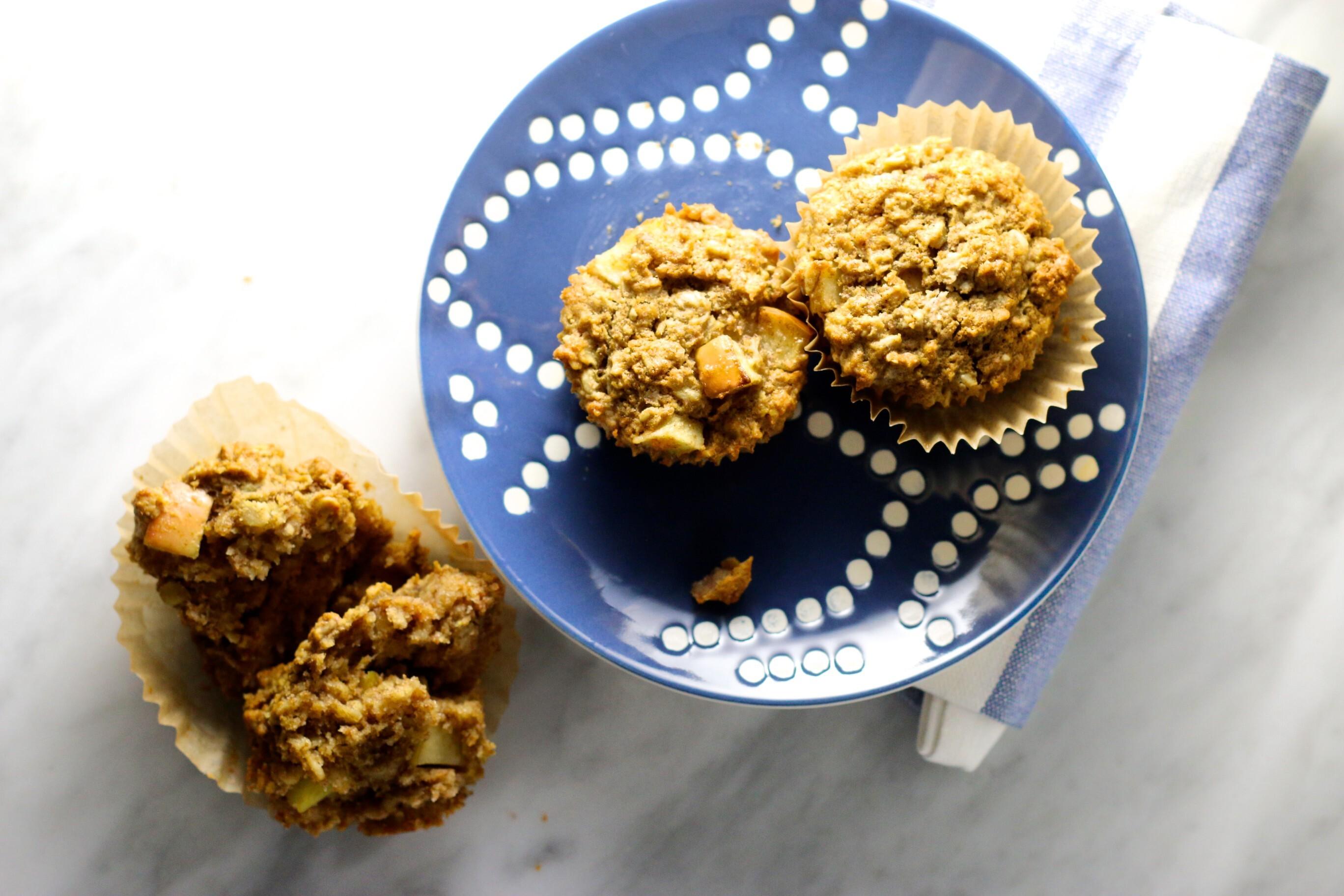 Muffins de manzana y avena: otro desayuno on the go