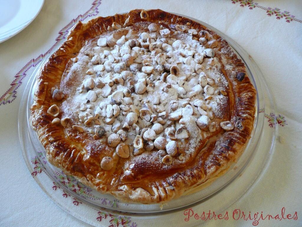 Pantxineta (Masa de hojaldre y crema pastelera)